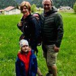Dirk Fornahl mit seiner Familie im Urlaub