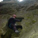 Dirk Fornahl beim klettern in der Steilwand