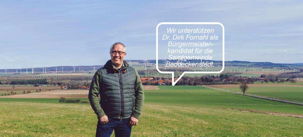 Samtgemeindebürgemeister Kandidat Dirk Fornahl hat Unterstützer für die Wahl
