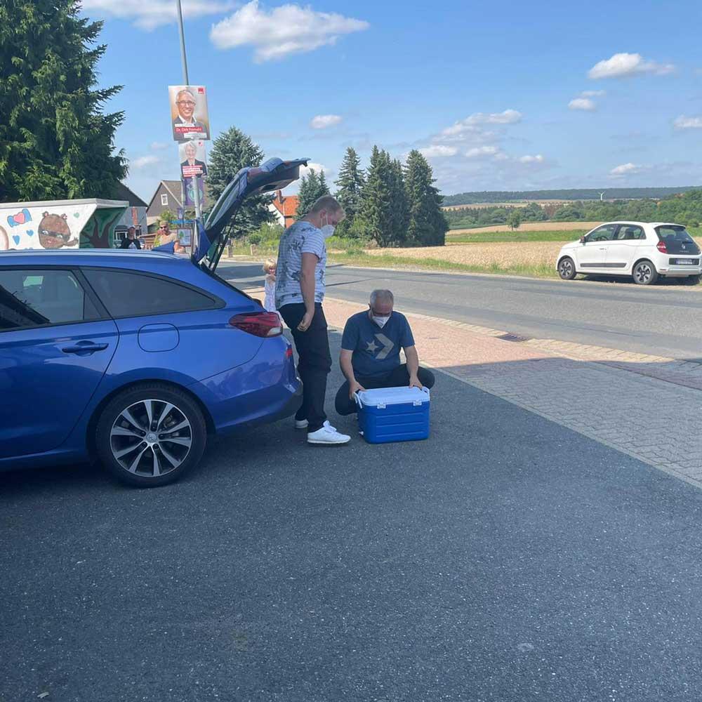 Dirk Fornahl sammelt spenden für die Flutkatstrophe 2021 Aktion Deutschland hilft 3