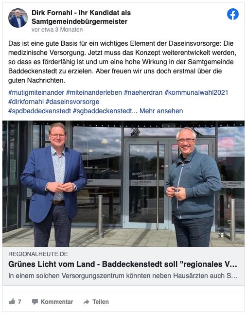 Dirk Fornahl mit Marcus Bosse stehen nebeneinander