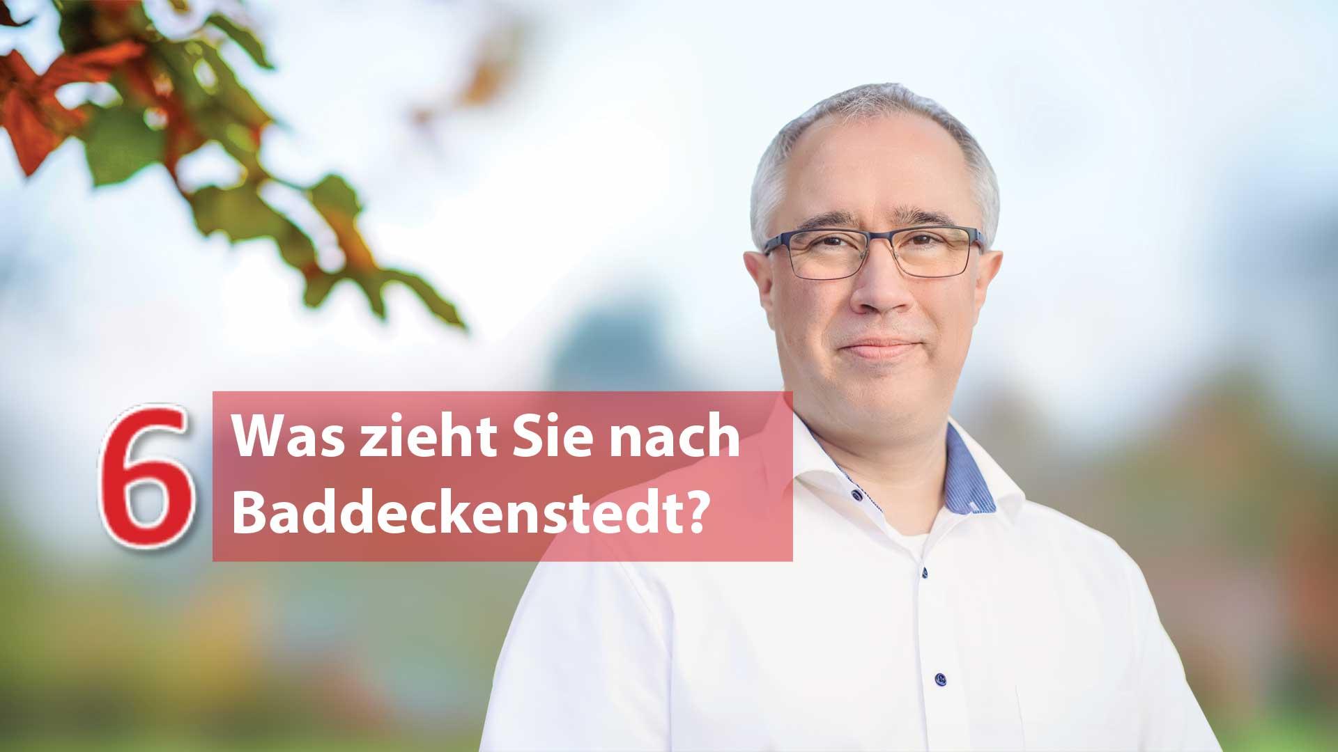 Fragen und Antworten von Dr. Dirk Fornahl Bürgermeister Baddeckenstedt